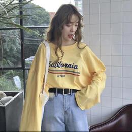 【お取り寄せ商品】Casual Letters Printed Long Sleeve T-shirts  LT22