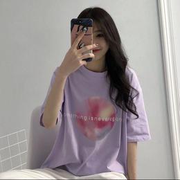 【お取り寄せ商品】オーバーサイズサークルプリントTシャツ LT53