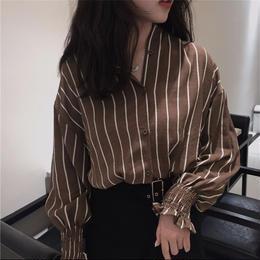 【お取り寄せ商品】Vintage Striped Slim Shirts LT32