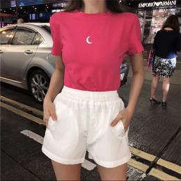【お取り寄せ商品】ムーンプリントショートTシャツ LT56