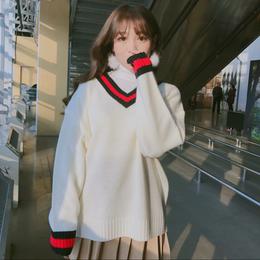 【お取り寄せ商品】カラーVネックセーター LT111