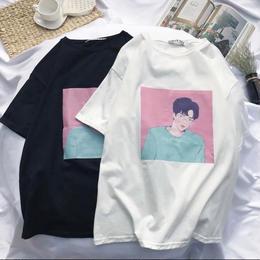 【お取り寄せ商品】韓国ストリートプリントTシャツ LT51