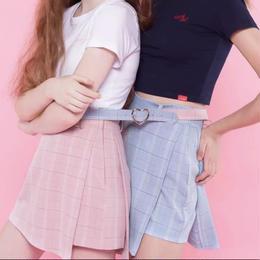 【お取り寄せ商品】korean style チェック プリーツスカート
