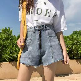 【お取り寄せ商品】ウエストワイドショートジーンズ