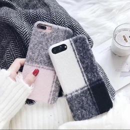 【お取り寄せ商品】チェック柄ウールiPhoneケース
