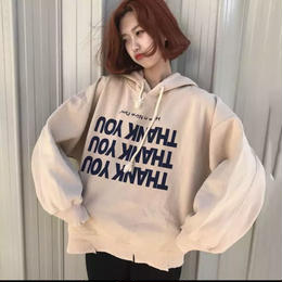 【お取り寄せ商品】Printed Long Sleeve Fleece Hooded Sweatshirts Female Hoodies LT24