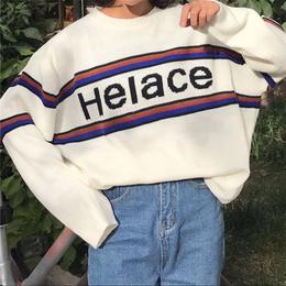 【お取り寄せ商品】プリントオーバーサイズセーター LT116