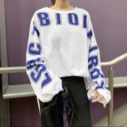 【お取り寄せ商品】レタープリントロングTシャツ LT78