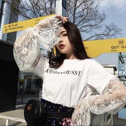 【お取り寄せ商品】レースプレッピーTシャツ LT54