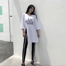 【お取り寄せ商品】ビッグサイズ7分丈Tシャツ&レギンス