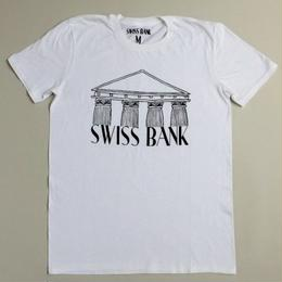 "SWISS BANK""BANK TEE""-WHITE/BLACK"