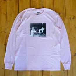 SKATE MUZIK Dischord Longsleeve Tee - Pink