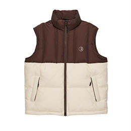 POLAR SKATE CO. COMBO PUFFER VEST Brown / Cream