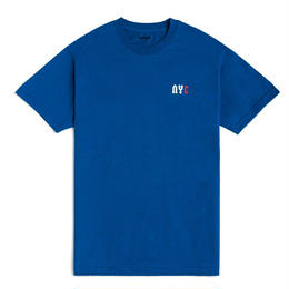 CHRYSTIE NYC C LOGO T-SHIRT / ROYAL BLUE