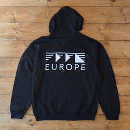EUROPE CO. Classic logo hoodie - Black