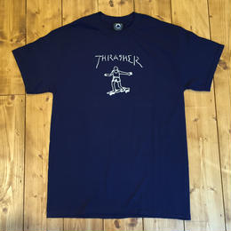 Thrasher Gonz Tee By Mark Gonzales - Navy