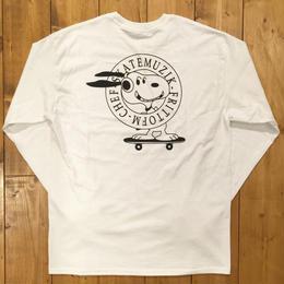 SKATE MUZIK SkateMuzik × FrittoFM × ChefFamily Longsleeve Tee - White