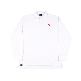 HELAS BALLER LONG SLEEVES POLO - WHITE