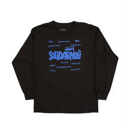 HUMBLE Solidarity longsleeve tee black/deep blue