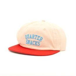 QUARTER SNACKS Classic Arch Cap — Cream/Red