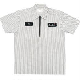 Peels NYC Peels Half Zip 1/2 Work Shirt Striped