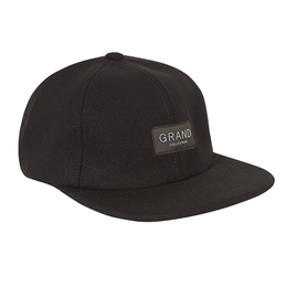 GRAND COLLECTION BLACK MELTON WOOL CAP