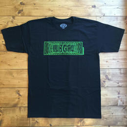 CLUBGEAR Matrix T-Shirt - Black/ Green