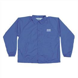 PASS~PORT - GREECE EMBROIDERY COACH JACKET - BLUE