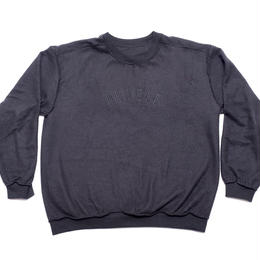 Humble inside out crewneck sweatshirt in black