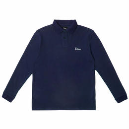 DIME LONG SLEEVE POLO SHIRT NAVY