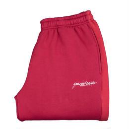 YARDSALE 2tone tracksuit bottoms Cardinal/cherry