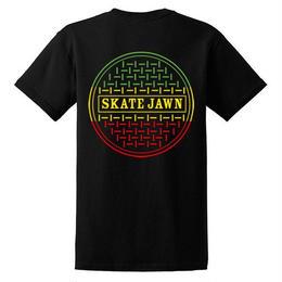 Skate Jawn rasta sewer tee black