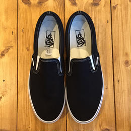 VANS USA SLIP ON BLACK/WHITE
