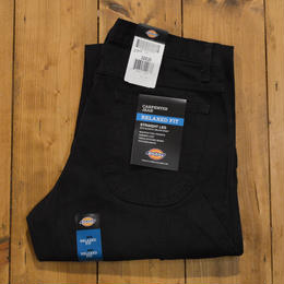 Dickies Relaxed Fit Straight Leg Carpenter Duck Jean - RINSED BLACK