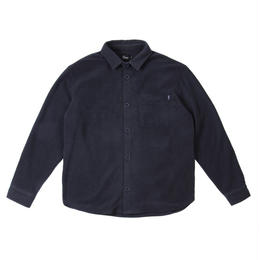 DIME FLEECE BUTTON-UP SHIRT Navy
