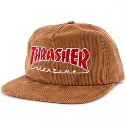 THRASHER Mag Logo Corduroy Snapback Hat  Gold