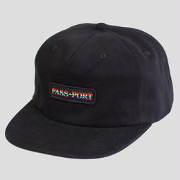 PASS~PORT - PRIDE OFFICIAL ~ 5 PANEL CAP BLACK