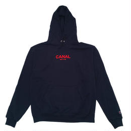 "CANAL ""CLASSIC LOGO"" CHAMPION HOODIE - NAVY/RED"