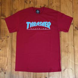 Thrasher Magazine outlined Tee - Cardinal