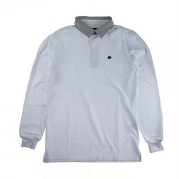 MAGENTA SKATEBOARDS LS POLO SHIRT White
