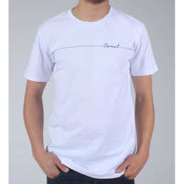 "Canal ""Script Line"" Tee - White"