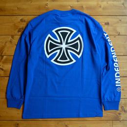 Independent truck Co. Bar/Cross L/S T-Shirt - Blue
