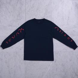 QUASI SKATEBOARDS Mono L/S T-shirts [Navy]