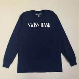 "SWISS BANK""GODDESS PILLAR LS TEE""-NAVY/WHITE"