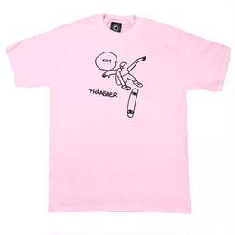 THRASHER Gonz KCUF T-Shirt  Light Pink