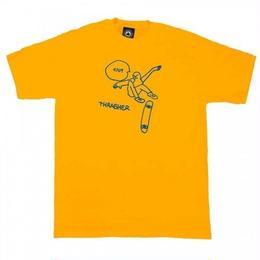 THRASHER Gonz KCUF T-Shirt  Gold