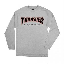 Indy X Thrasher Time To Grind Long Sleeve T-Shirt  Athletic Heather