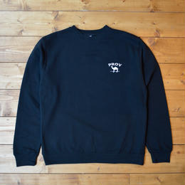 PROV OLD JOE CREWNECK SWEATSHIRT - BLACK