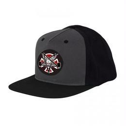 Indy X Thrasher Pentagram Cross Snapback Hat  Grey/Black