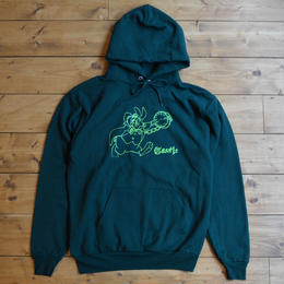 CASTLE BOLTS Bunny Clock Hoodie Green